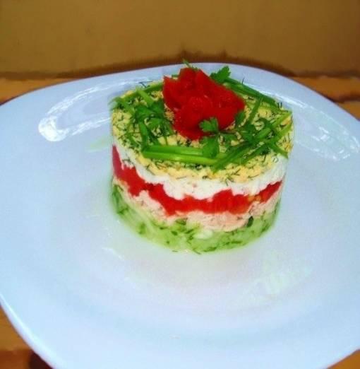 Легкий салат с куриной грудкой и кукурузой Брависсимо - Рецепт от ...   522x510